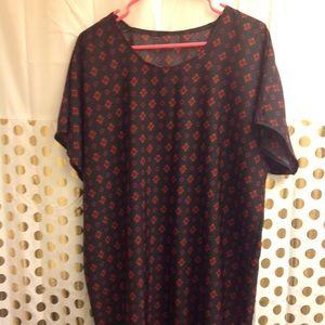 Lularoe Julia Mini Shirt Dress Sleeves Soft M